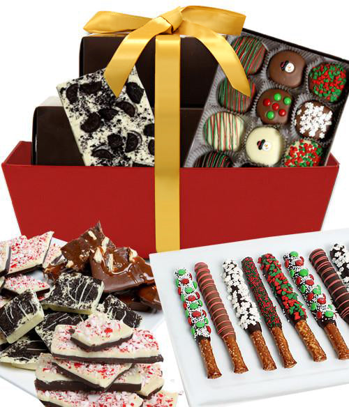 HOLIDAY INDULGENCE Chocolate Covered Snack Gourmet Gift Basket - Chocolate Covered Company®