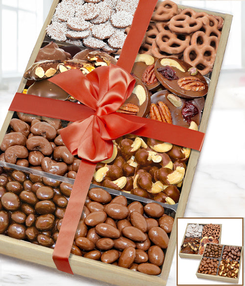 Milk Belgian Chocolate Covered Nut & Snack Gift Tray Set - Chocolate Covered Company®