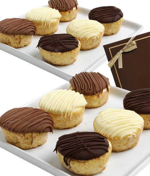 Belgian Chocolate Dipped Mini-Cheesecakes - 12pc - Golden Edibles