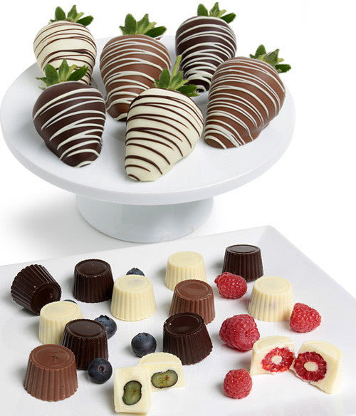 Mixed Chocolate Covered Berries - (Strawberries,  Raspberries,  Blueberries) - Golden Edibles