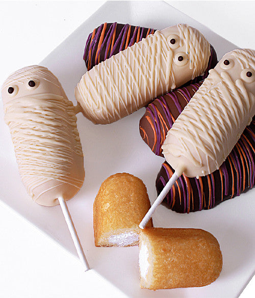 Halloween Mummies Decorated Twinkies®- 6pc - Golden Edibles