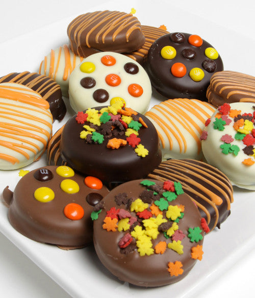 Fall Belgian Chocolate-Dipped OREO® Cookies Gift - 12pc - Chocolate Covered Company®