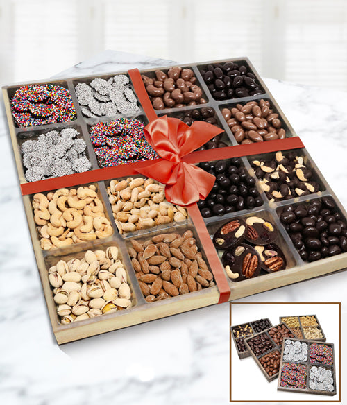 Supreme Belgian Chocolate, Nut and Snacks - Set of 4 Trays
