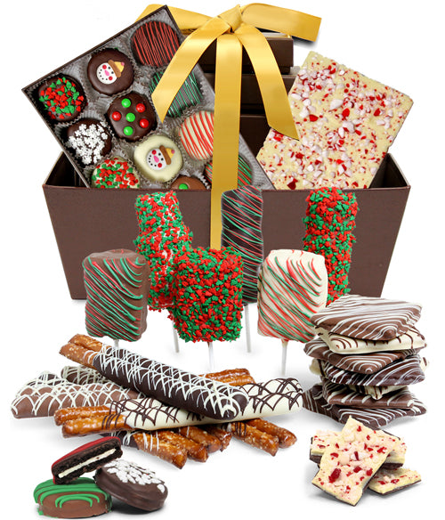 ULTIMATE HOLIDAY Belgian Chocolate Covered Gourmet Gift Basket - Chocolate Covered Company®
