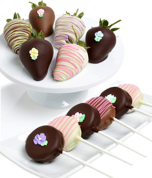 Spring OREO® Cookie Pops & Chocolate Strawberries - 12pc - Chocolate Covered Company®