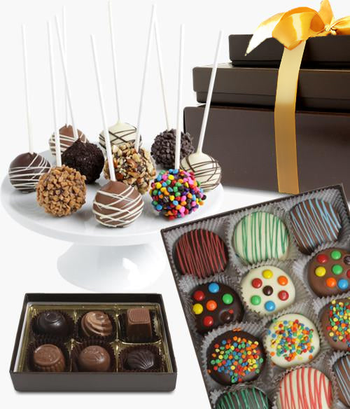 Spectacular Celebration Belgian Chocolate Covered Gift Tower - Chocolate Covered Company®