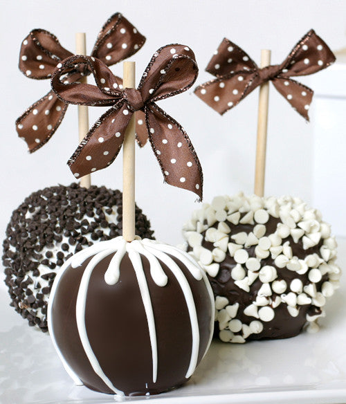 Paradise Caramel Apples - Golden Edibles