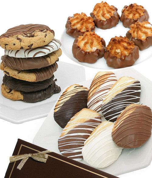 Gourmet Dipped Bakery Cookie Trio - 18pc - Golden Edibles
