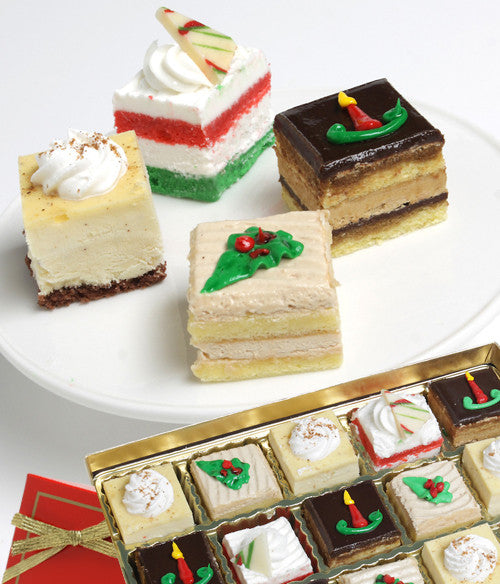 Holiday Petit Fours - 15pc - Golden Edibles