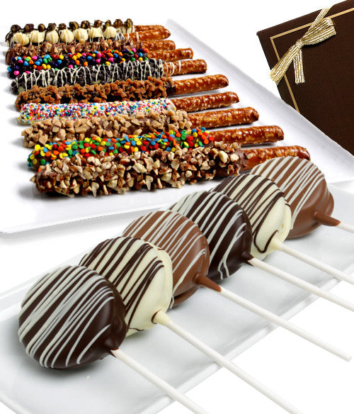 Gourmet Pretzels & Double Stuf Oreo® Cookie Pops - Chocolate Covered Company®