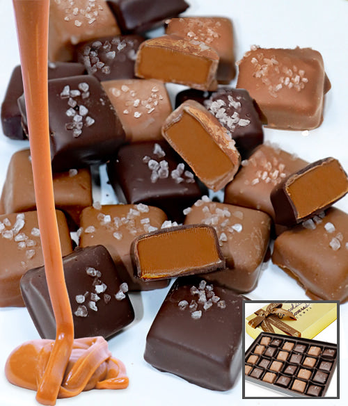 Belgian Chocolate Covered Sea Salt Caramels Gift - 24pc - Chocolate Covered Company®