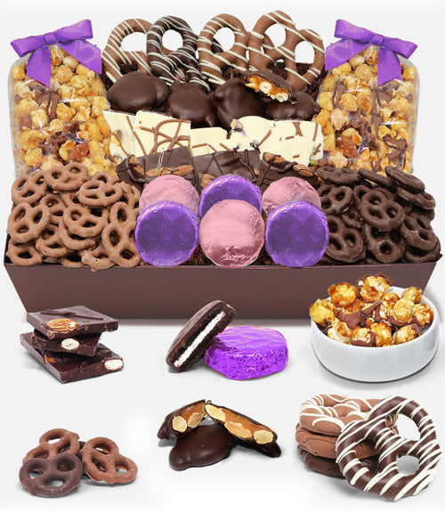 MOTHER'S DAY - Sensational Belgian Chocolate Snack Gift Basket Tray