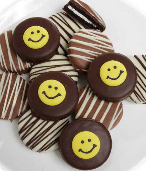 Smile Belgian Chocolate-Dipped OREO® Cookies Gift - 12pc - Chocolate Covered Company®