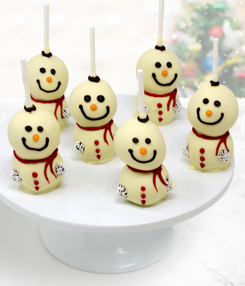 Snowman Belgian Chocolate Dipped Cakepops - 6pc - Chocolate Covered Company®
