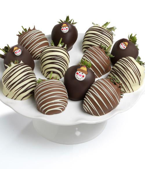 Snowman Belgian Chocolate Covered Strawberries - Chocolate Covered Company®