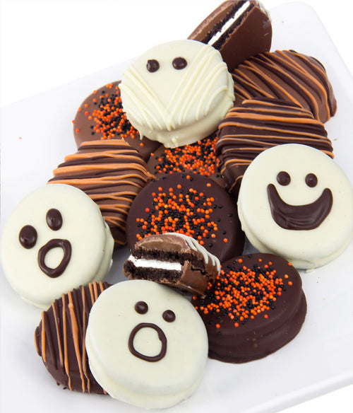 Mummy Face Scary Chocolate-Dipped OREO® Cookies Gift - 12pc - Chocolate Covered Company®
