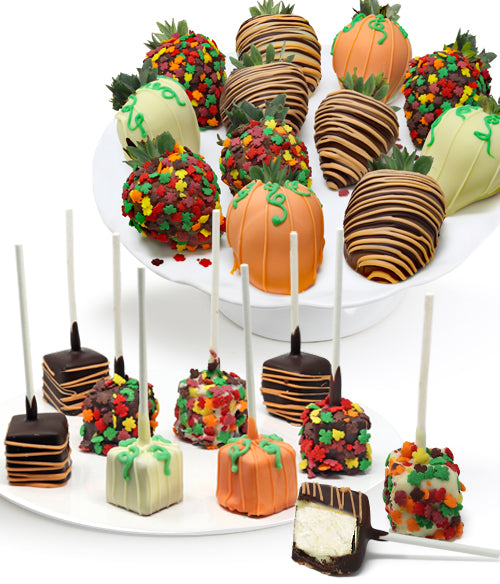 Fall Chocolate Strawberries & Mini-Cheesecakes - 22pc - Chocolate Covered Company®