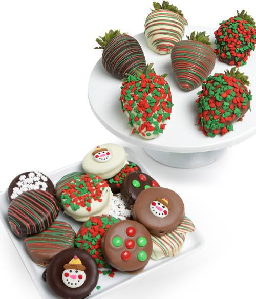 Holiday Chocolate Covered Strawberries & OREO® Cookies