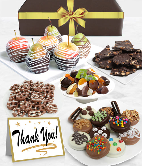 THANK YOU - Grand Belgian Chocolate Covered Fruit Gift Box