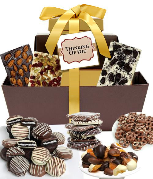 THINKING OF YOU - Mega Delectable Chocolate Gift Basket - Chocolate Covered Company®