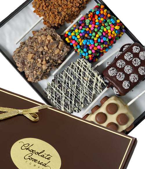 Ultimate Toppings Belgian Chocolate Covered Rice Krispies® Treats - Golden Edibles