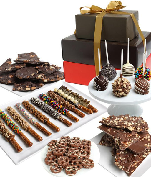 Deluxe Belgian Chocolate Covered Gift Tower - Chocolate Covered Company®