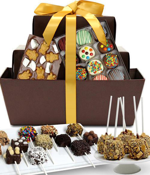 Ultimate Chocolate Snacks Fun Gift Basket - Golden Edibles