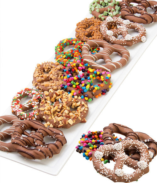 Ultimate Chocolate Covered Pretzel Twists - 12pc - Golden Edibles