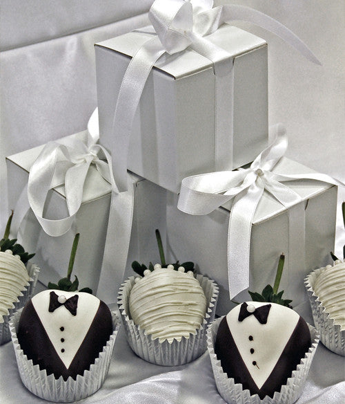 Wedding Favors Chocolate Covered Strawberries - 100pc - Golden Edibles