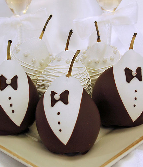 Wedding Chocolate Covered Pears - Chocolate Covered Company®