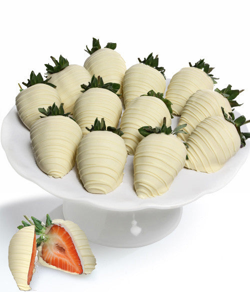 White Belgian Chocolate Covered Strawberries - Chocolate Covered Company®