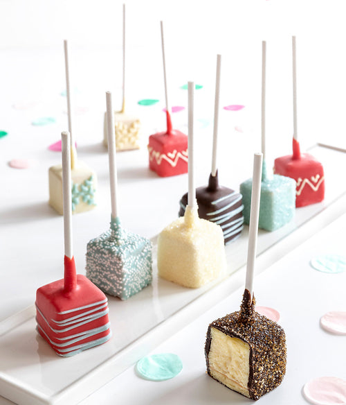 Perfect Holiday Chocolate Dipped Cheesecake Pops - 10pc - Chocolate Covered Company®
