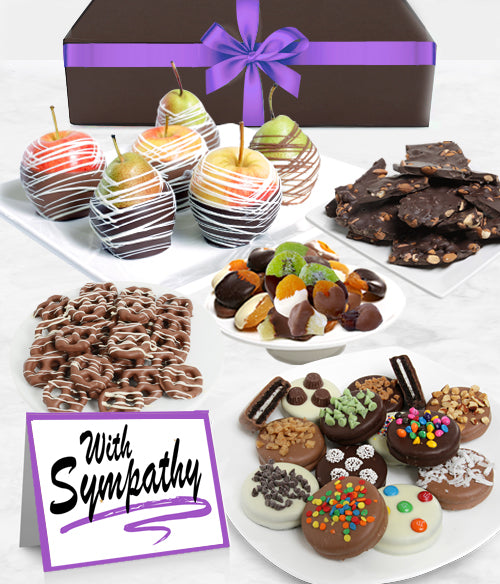WITH SYMPATHY - Grand Belgian Chocolate Covered Fruit Gift Box