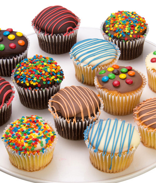 Birthday Chocolate Covered Cupcakes - 12pc - Chocolate Covered Company®