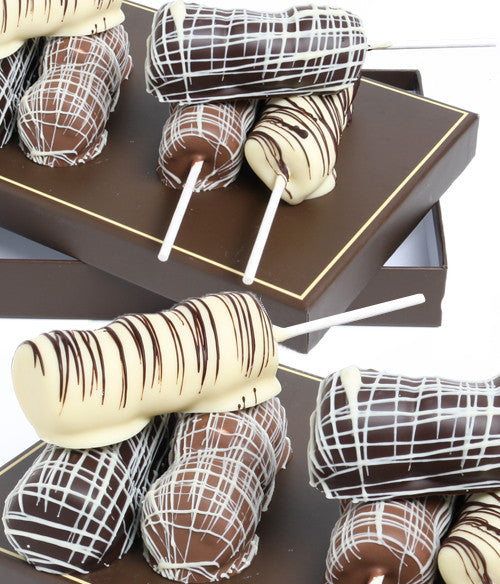 Classic Belgian Chocolate Dipped Marshmallow Sticks - Golden Edibles