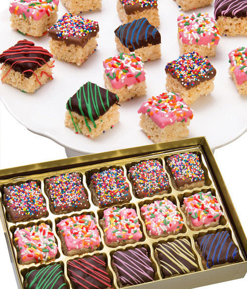 Celebration Belgian Chocolate Covered Crispy Bites - 15 pc - Golden Edibles