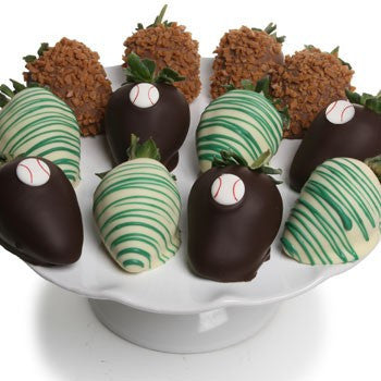 Baseball Chocolate Strawberries - Golden Edibles