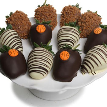Basketball Chocolate Strawberries - Golden Edibles