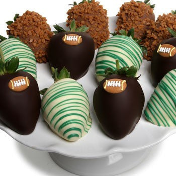 Football Chocolate Strawberries - Golden Edibles