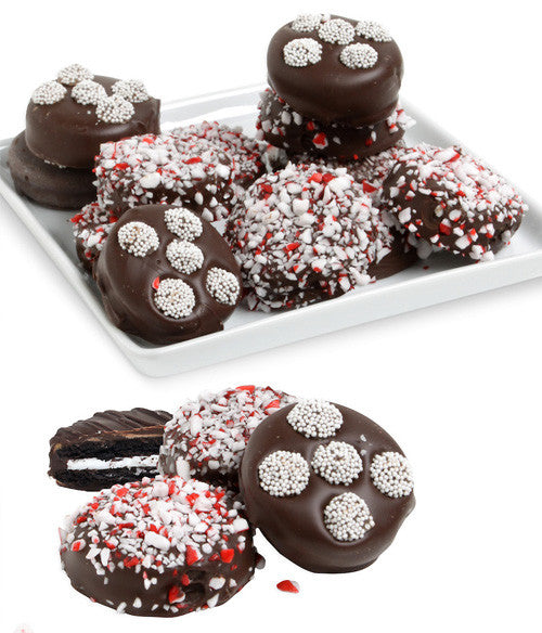 Elegant Peppermint Belgian Chocolate Covered OREO® Cookies Gift - 12pc - Chocolate Covered Company®
