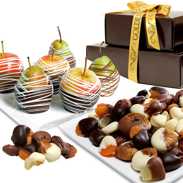 Decadent Chocolate Covered Fruit Gift Tower - Chocolate Covered Company®