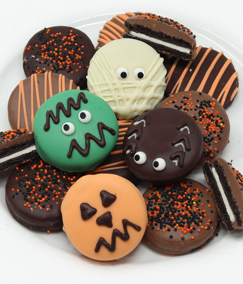 Halloween Spooky Belgian Chocolate-Dipped OREO® Cookies Gift - 12pc - Chocolate Covered Company®