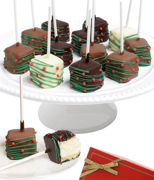 Holiday Chocolate Dipped Cheesecake Pops - 10pc - Chocolate Covered Company®