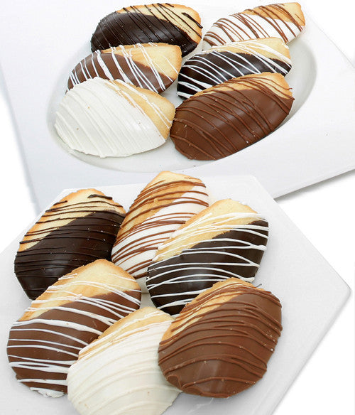Classic Belgian Chocolate Covered Madeleine Cookie Gift - 12pc - Golden Edibles