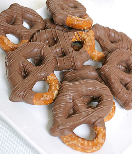 Milk Belgian Chocolate Covered Pretzel Twists - Golden Edibles