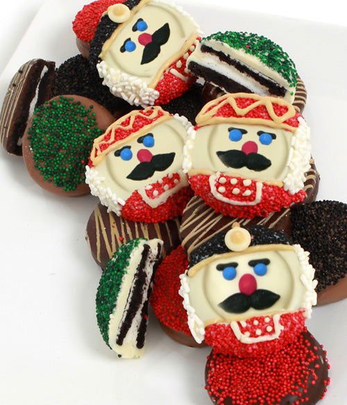 Nutcracker Belgian Chocolate-Dipped OREO® Cookies Gift - 12pc - Chocolate Covered Company®
