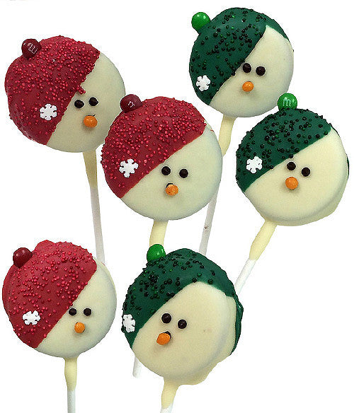 Snowman Belgian Chocolate Covered OREO® Cookie Pops - 6pc - Chocolate Covered Company®