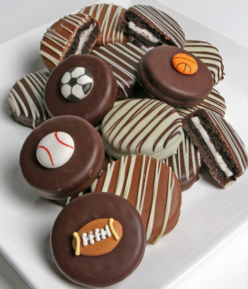 Sports Belgian Chocolate-Dipped OREO® Cookies Gift - 12pc - Golden Edibles