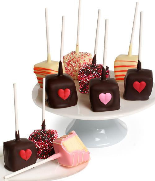 Valentine's Day Chocolate Dipped Cheesecake Pops - 10pc - Chocolate Covered Company®