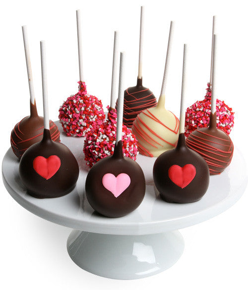 Valentine's Day Belgian Chocolate Dipped Cake Pops - Chocolate Covered Company®